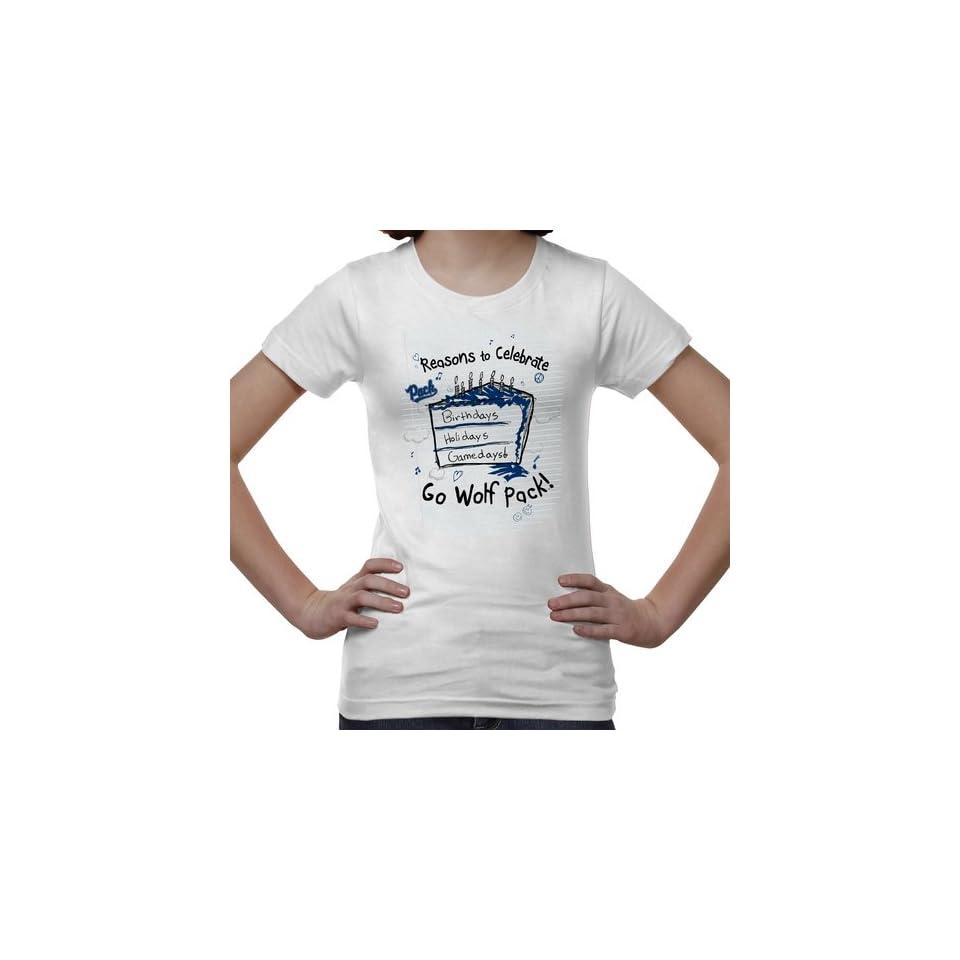 Nevada Wolf Pack Youth Celebrate T Shirt   White