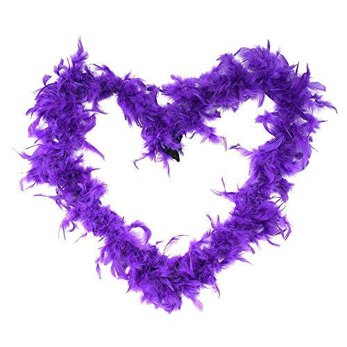 Party DIY Decorations - 2m Feather Boas Fluffy Craft Costume Dressup Wedding Party Home Decor Dark Purple - Decorations Party Party Decorations Purpl Artificial Flower Ostrich Decor Feather Home -