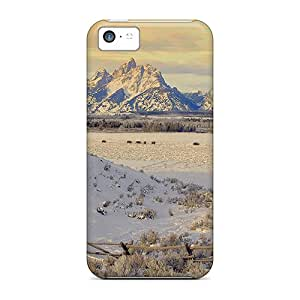 New Arrival Cases Covers With Ios45114ytcX Design For Iphone 5c- Grazing In The Winter