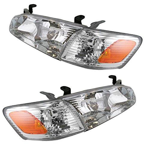 Headlight Headlamp Corner Light Lamp Kit Set of 4 for 00-01 Toyota Camry