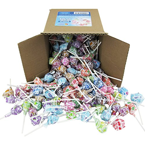 - Dum Dums Pops by Spangler, Assorted Flavors Lollipops in 6x6x6 Box Bulk Candy, 2.4 lbs. - 38 oz.
