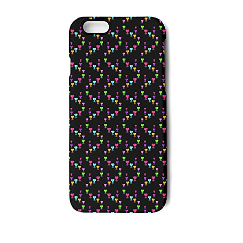 SJSNBZ Rainbow Love Heart Iphone 6 Iphone 6s Cool Funny TPU Matte Case Back Cover Shock Absorption-proof Full-protection Anti-fall Anti-Scratch Anti Finger Print Non Slip