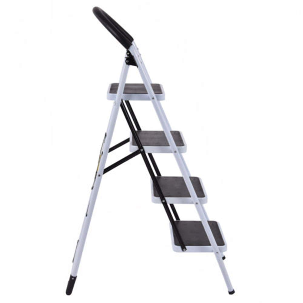 MY HOPE Ladder Fordable Heavy Duty Supported load 330 Lbs 4 Step Industrial Lightweight. by MY HOPE (Image #5)
