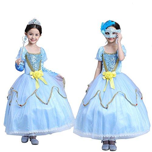[Moolecole Girls Princess Dress Halloween Party Kids Costume 150cm] (Toddler Supergirl Tutu Set)