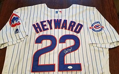 JASON HEYWARD Signed Jersey JSA Certified Auto Chicago Cubs 22 ...