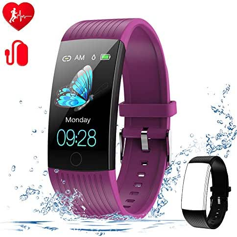 WELTEAYO Fitness Tracker with Heart Rate Monitor Fitness Watch Activity Tracker 1.14 Inch Color Screen Pedometer Blood Pressure Monitor Sleep Monitor IP67Waterproof for Android and iPhone