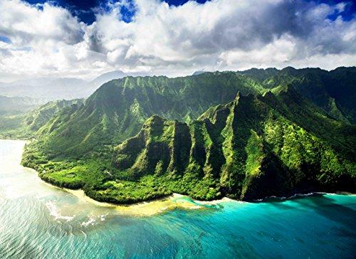 Adult Jigsaw Puzzle Ocean Mountains Kauai Hawaii USA 500-Pieces