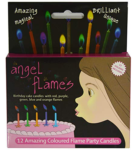Angelflames Birthday Candles with Warm Color Flames