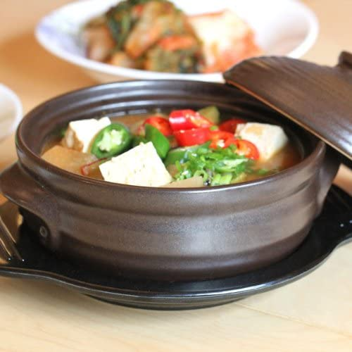 Crazy Korean Cooking Korean Stone Bowl (Dolsot), Sizzling Hot Pot