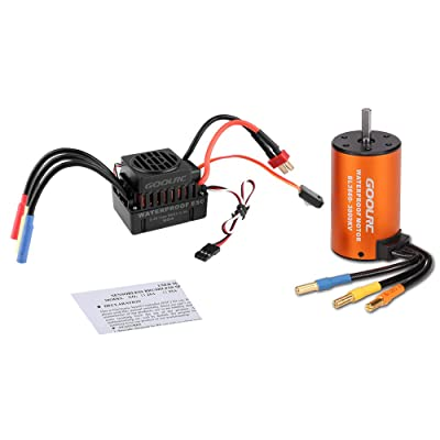 GoolRC Upgrade Waterproof 3660 3800KV Brushless Motor with 60A ESC Combo Set for 1/10 RC Car Truck: Toys & Games