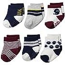Carter's Baby-Boys Newborn Sport Socks, Multi, 0-3/Medium Months (Pack of 6)