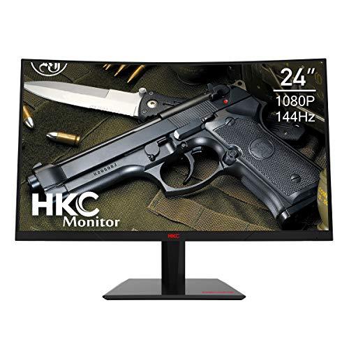 HKC 24 144Hz Curved 1080P AMD Sync Full HD Gaming Monitor HDMI DP Inputs Vesa Mount 3 Year Warranty 100 Srgb