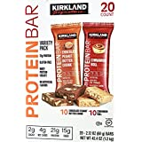 Kirkland Signature Protein Bars Chocolate Peanut Butter and Cinnamon Roll, 20 Bars