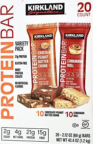 Kirkland Signature Protein Bars Chocolate Peanut Butter And Cinnamon Roll  20 Bars