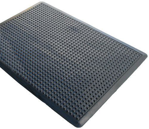 Rhino Mats UD3648S Ultra-Dome Workstation Anti-Fatigue Welding Mat, 3' Width x 4' Length x 3/4'' Thickness, Black by Rhino Mats
