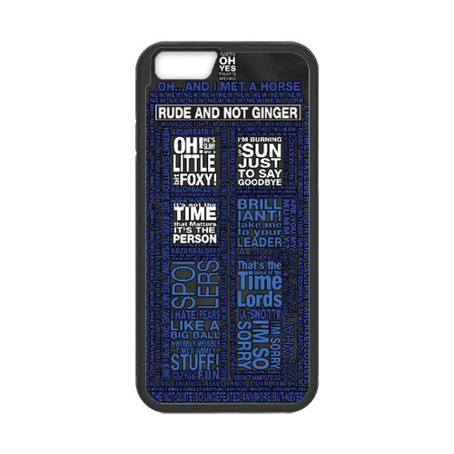Fayruz- Personalized Protective Hard Textured Rubber Coated Cell Phone Case Cover Compatible with iPhone 6 & iPhone 6S - Doctor Who Tardis F-i5G776
