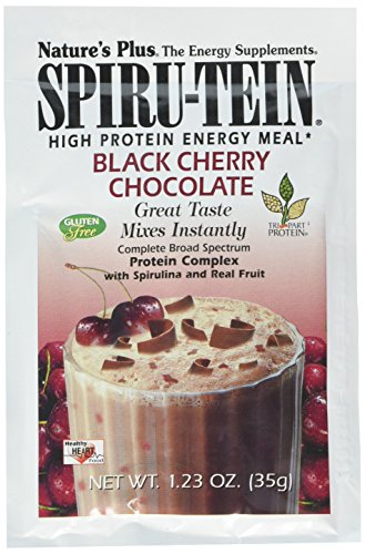 Nature's Plus Spirutein Black Cherry Chocolate Supplement, 8 Count