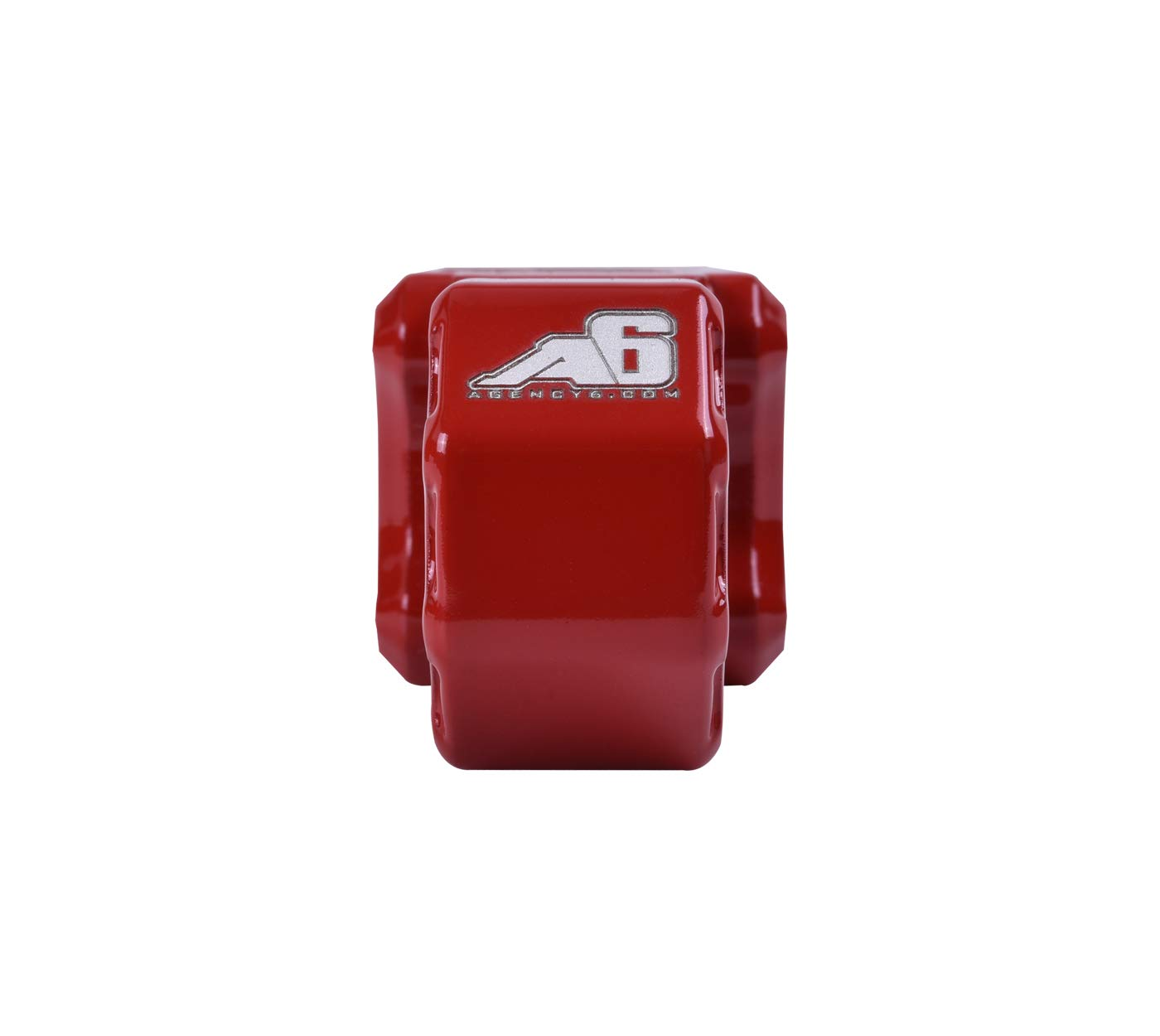 Agency 6 Recovery Shackle Block 1.25 RED Powder Coat Proudly Made in The USA with US Certified Materials Hitch Receiver Fits 1.25 inch Hitch receivers HitchLink Recovery Tow Block