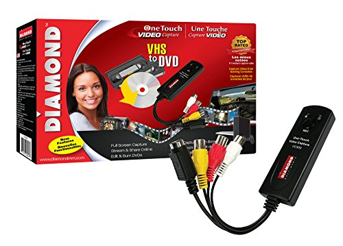 Usb File Transfer Software (Diamond VC500 USB 2.0 One Touch VHS to DVD Video Capture Device with Easy to use Software, Convert, Edit and Save to Digital Files For Win7, Win8 and Win10)