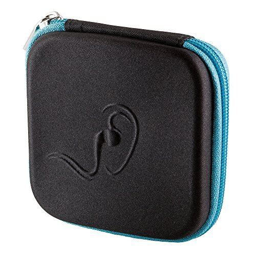 Stylish and Functional Hard EVA Carrying Case for iPod / MP3 / Earphones / Zipper / 2 Mesh Pockets (Ipod Shuffle Carrying Case)