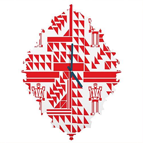 Deny Designs Vy La, Robots and Triangles, Baroque Clock, Medium by Deny Designs