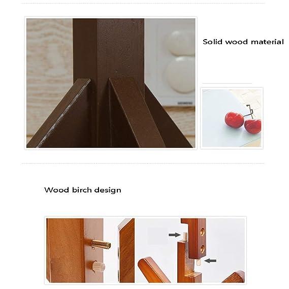 Amazon.com: Perchero vertical de madera maciza con forma de ...