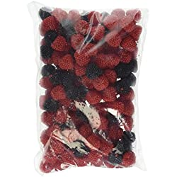 Haribo Red & Black Raspberries German Gummi , 1.5Lb