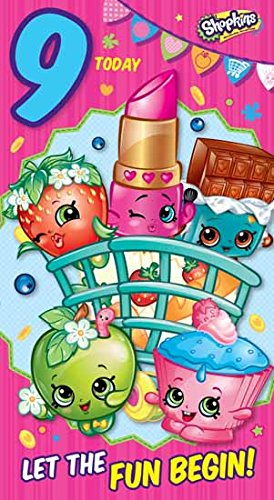 Shopkins9th Age 9 Birthday Card Amazoncouk Office Products