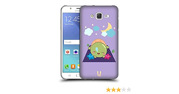 Head Case Designs Kawaii Tortugas Hard Back Case para Samsung Phones 3, plástico, Sleep, Samsung Galaxy J7