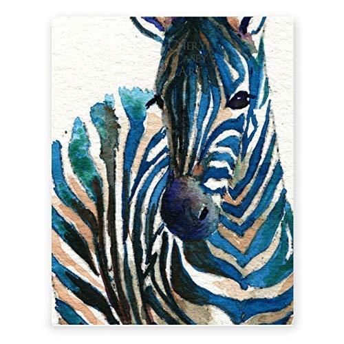 Zebra Painting Print - Wall Art Decor Poster Print by Cheryl Casey Art - watercolor print