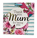 Mothers Day Gift Bag Mum Her Wrapping Large Thank You Floral Butterfly+Free Tape