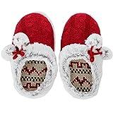 Home-X Ladies Red Winter Slipp