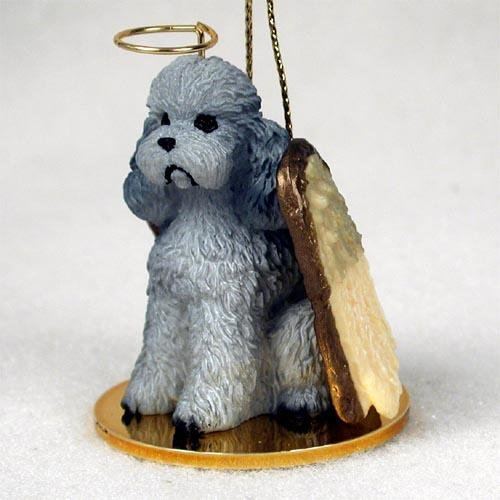 Conversation Concepts Poodle, Gray, Sport Cut Tiny Ones Dog Angels (2 in)