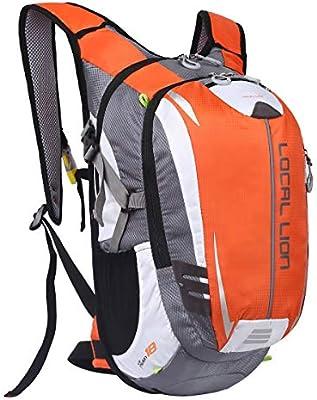Local Lion 18L Mochila de Ciclismo Hidratación de Deportes al Aire Libre de Senderismo Excursion Multifuncional Nylon para Unisex Color Naranja: Amazon.es: Deportes y aire libre