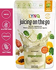 LYNQ Empowdered - Non Flavoured - Juicing On The Go - 110g ( Keto/ Vegan ), 110 Grams