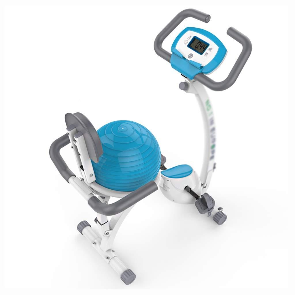 磁気制御スポーツバイク 屋内フィットネス機器/サイレント自転車 ホームトレーナー 屋内ステッパー、ヨガボールクッション (Color : 白, Size : 41*83*122cm) 41*83*122cm 白 B07QRNQMKF