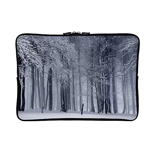 DKISEE Abstract Winter-Scene Neoprene Laptop Sleeve Case Waterproof Sleeve Case Cover Bag for MacBook/Notebook/Ultrabook/Chromebooks ()