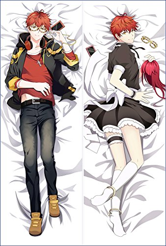 Anime Mystic Messenger Hugs Pillow Case Manga Cosplay Long Hugging Body Pillowcase (Peach Skin, SMW-1)