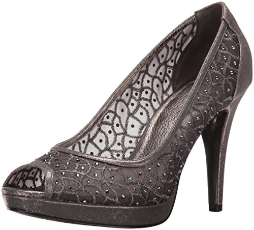 Womens Metal Pumps - Adrianna Papell Women's Foxy Dress Pump, Gunmetal, 5.5 UK/5.5 M US