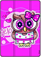 Protective Flip Cover Case For Samsung Galaxy TAB S6 Lite 10.4 2020 Hello Owl