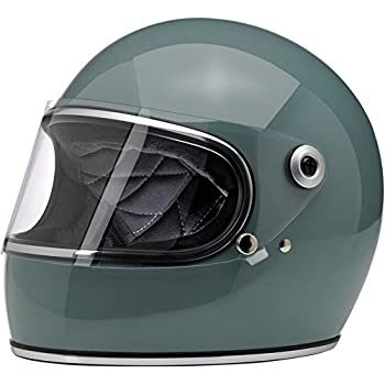 Biltwell Unisex-Adult Full-Face-Helmet-Style Gringo S DOT Certified Full-Face Helmet (Agave Blue, Medium)