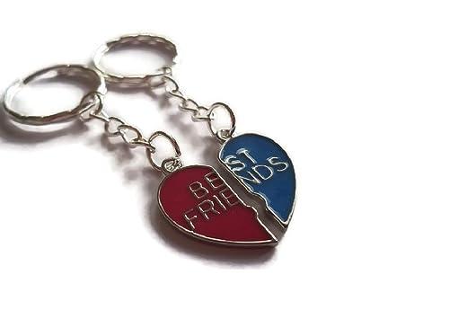 Halo accesorios mitad rosa y azul llavero Best Friends ...