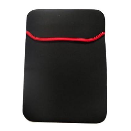 e59951e5be42 Ultima Slim Soft Neoprene Reversible Fully Padded Cover Case Sleeve for  15.6 Laptop (Black/Red)