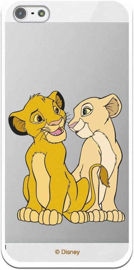 LA CASA DE LAS CARCASAS Funda Oficial Disney Simba y Nala Transparente para iPhone 5-5S - SE - El Rey León