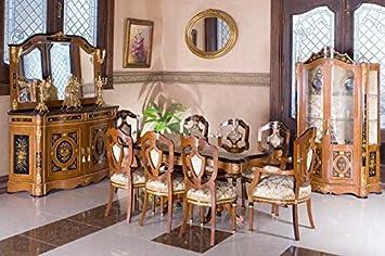 Louisxv Barock Esszimmer Antik Stil Replikat Vitrine Sideboard Tisch