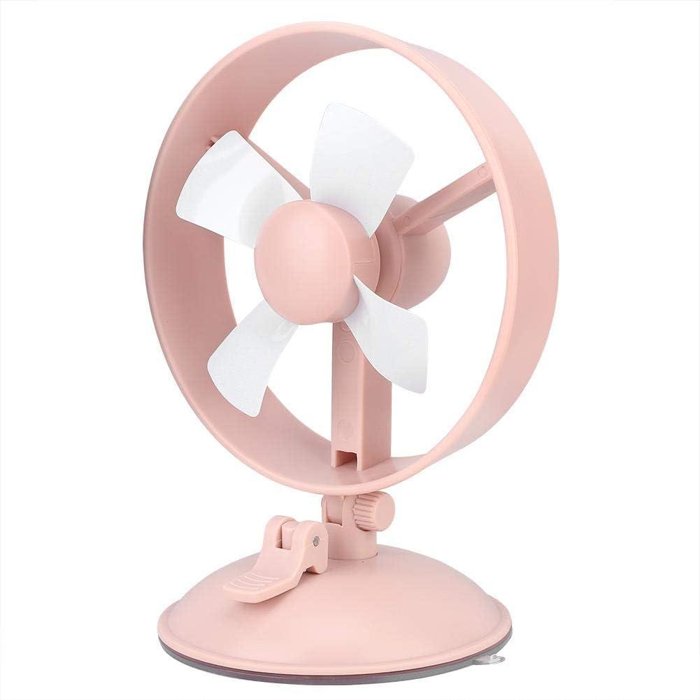 Pink Antilog Fan Portable Mini Suction Cup Fan 2 Speed Adjustable USB Desktop Fans for Home Office