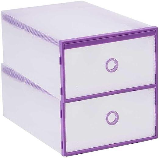 Apilable Cajones apilables Paquete de 2 cajas de zapatos Cubo ...