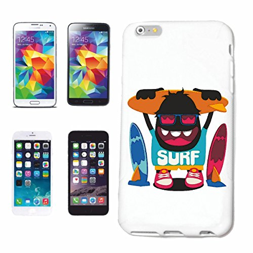 "cas de téléphone iPhone 7 ""SURF MONSTER WAVES SURF BEACH SURFBOARDS LONGBOARD DE SURF Beginner Shop"" Hard Case Cover Téléphone Covers Smart Cover pour Apple iPhone en blanc"