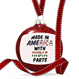 Christmas Decoration Made in America with Parts from India Ornament