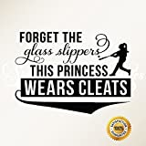 Ditooms-Baseball-Wall-Decals-Sport-Quotes-Forget-The-Glass-Slippers-This-Princess-Wears-Cleats-Softball-Wall-Decals-for-Home-Decor